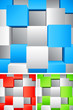 Abstract background with white and color cubes.