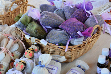 Dried lavender bags, lavender products