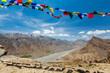 Buddhist prayer flags lungta in Spiti valley