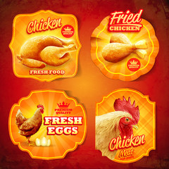 chicken food vintage