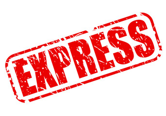 Express red stamp text