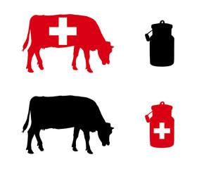 Schweizer Milchkuh