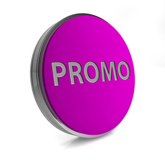 Promo circular icon on white background