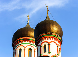 Orthodox church domes in Moscow, Russia