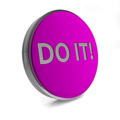 Do it circular icon on white background