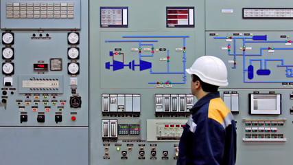 triggered alarms on main control panel, engineer disables it