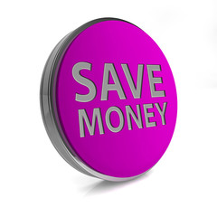 Save money circular icon on white background