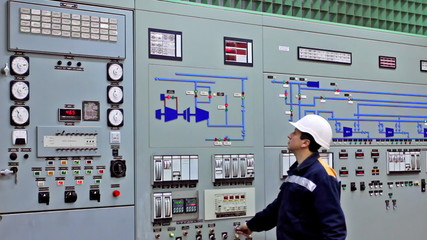 engineer disables emergency warning alarms on main control panel