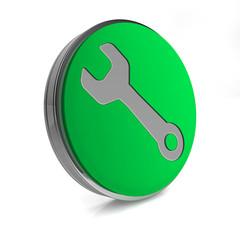 tools circular icon on white background