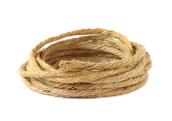 Hemp rope isolated on white background