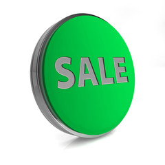 sale circular icon on white background