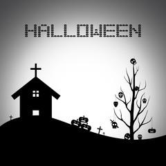 Halloween background. Vector Illustration