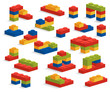 Set of different plastic pieces or constructor - 71735855