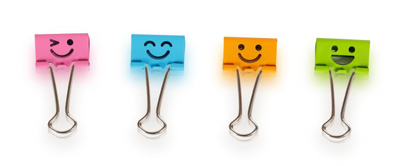 Colorful binders with smiles