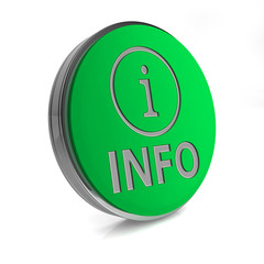information circular icon on white background