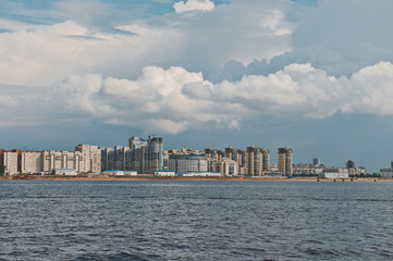 City of St. Petersburg, view from the motor ship 1135.