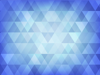 abstract background of blue triangle style