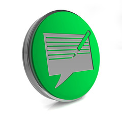 new message circular icon on white background