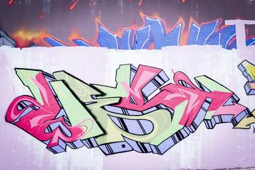 Mur de graffiti lettrage