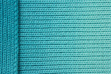 Turquoise wool background with layered side piece poster