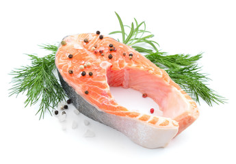 Salmon stake isolated