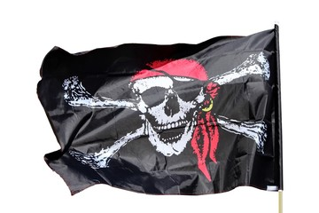 Bannière pirate au bandana rouge