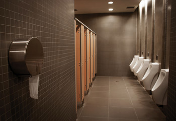 silhouete toilet men room