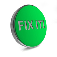 Fix it circular icon on white background