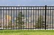 Leinwandbild Motiv Rod Iron Fence