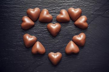 Coeur en chocolat