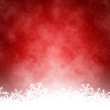 canvas print picture - red christmas background