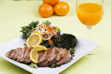 Roast Duck Breast with Orange sauce
