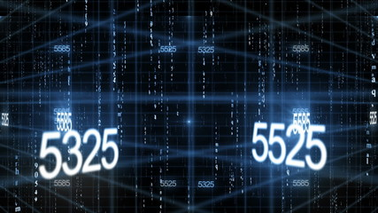 number data technology background