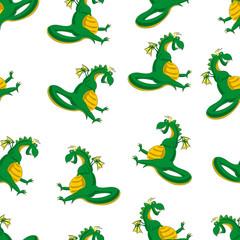 Dragon  seamless pattern
