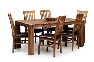 Woden table and chairs