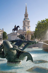 London - fountain on the Trafalgar square