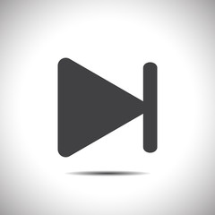 fast forward next track button vector icon