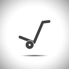 manual cart vector icon