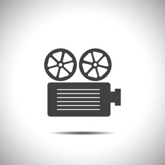 movie projector vector icon