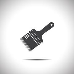paint brush flat vector icon
