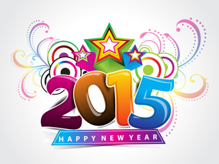 explode colorful new year background