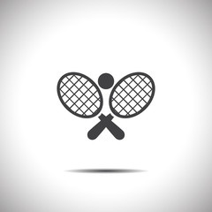 tennis racket ball vector icon