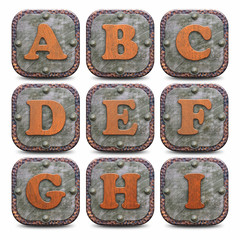 Plaques métalliques - Alphabet