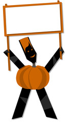 Pumpkin halloween cartoon