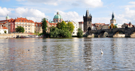 City of Prague and the Charles Bridge, Czech Republic, Europe