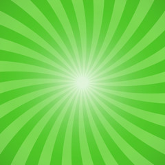 Green color burst background