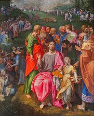Antwerp - Paint of Feeding the multitude in the cathedral