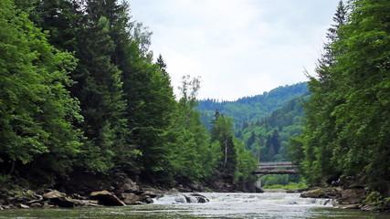 river in mountains Carpathians