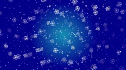 abstract loop motion background, snowflake