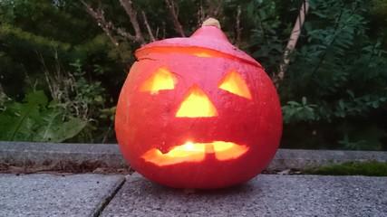 Halloween kürbiskopf Kerze